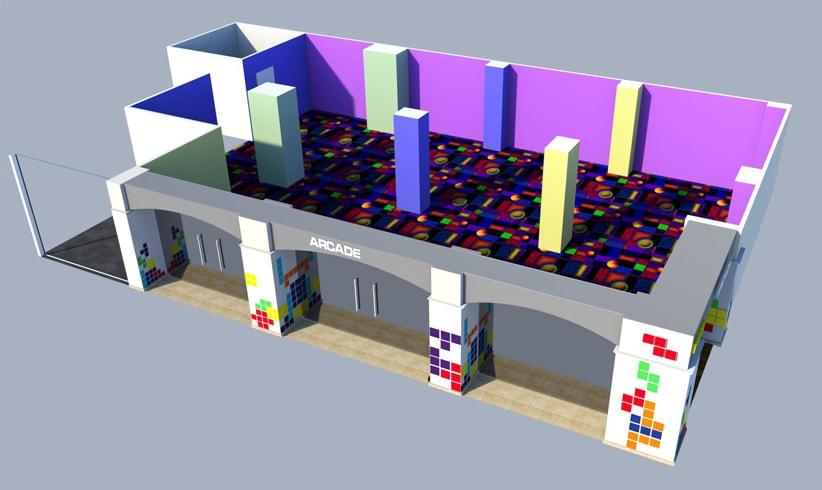 arcade floor map